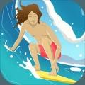 冲浪无尽的海浪